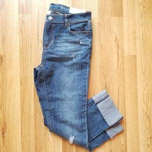 Loft original straight petite jeans